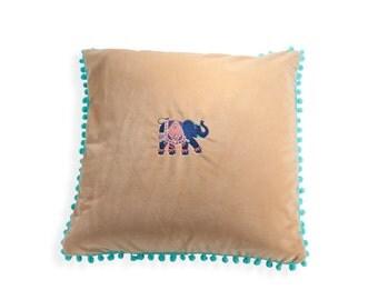 Elephant Pom Pom pillow