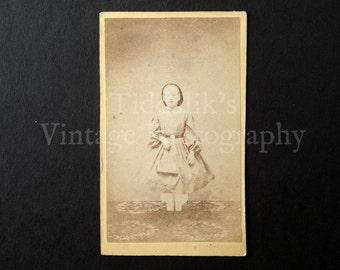 Carte de Visite CDV Photograph of a Standing Young Girl