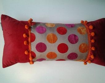 cushion has red peas