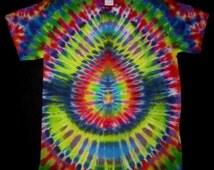 02 Psychedelic Turtle Egg, Tie Dye T-shirt, Fits Adult Unisex Medium