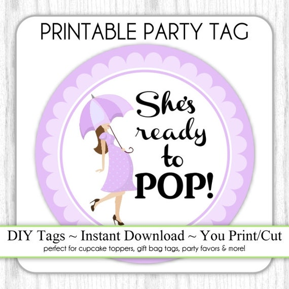 she 39 s ready to pop baby shower printable lavender ready to pop