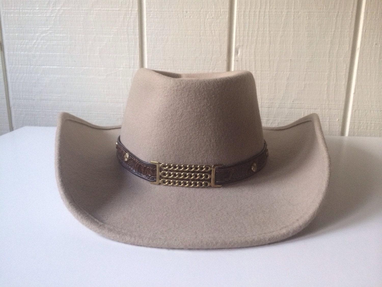 Western Wool Cowboy Hat Size 7 Little Joe Golden Gate