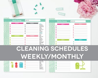 Items similar to daily cleaning checklist editable printable pdf instant download weekly for Editable cleaning schedule