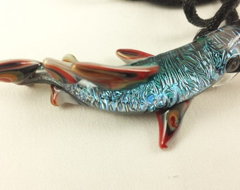 Shark - Glass Pendant Necklace