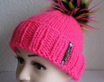 Children Beanie Neon Pink