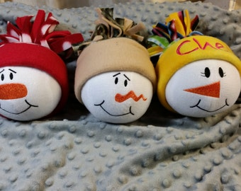 Personalized Snowball Ornament with your Choice of Hat