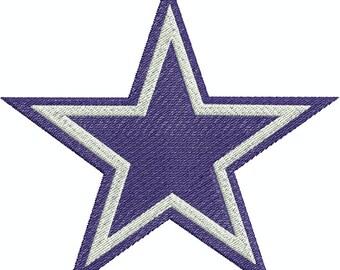 Dallas Star, Texas Star Applique and Fill 4 designs Machine Embroidery Design
