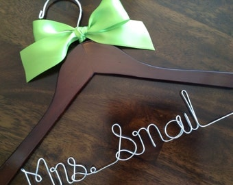 SALE Personalized Wedding Hanger/ Brides Hanger/ Bride/ Name Hanger/ Wedding Hanger