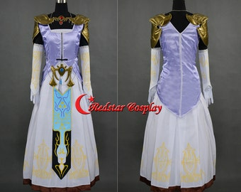 The Legend of Zelda Princess Zelda Cosplay Costume - Custom made in Any size