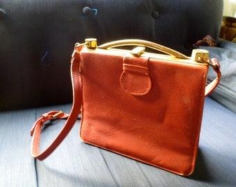 Battered Vintage Red Leather purse
