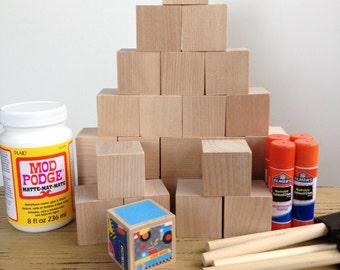 Nautical nursery diy wood baby blocks boat ocean for Child craft wooden blocks