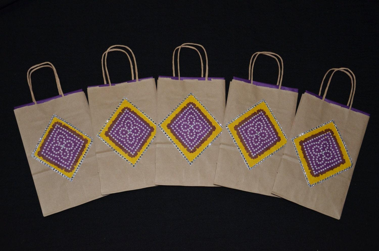Hindu Wedding Gift Bags : NEW Gift Bags Indian Wedding Purple Gift BagsBags for