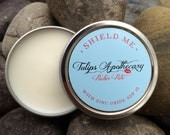 SHIELD ME Lip Balm , Zinc Oxide SPF 15 Pucker Pot, 1oz Beeswax Lip Balm Tin, All Natural Beauty, Surfer Gift, Beach Bum Gift, Swimmers Gift,