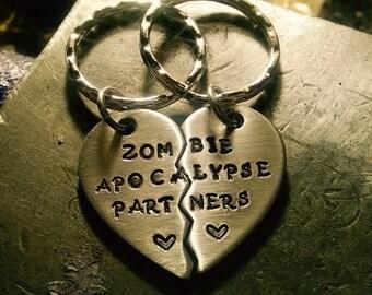 Zombie Apocalypse Partners / TWD / Walkers / Zombies / Zombie Keychain /
