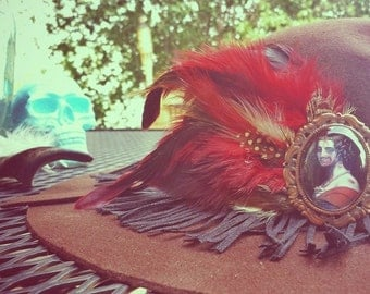 The Blood & Chocolate Danger Fringe Hat Extra Small/Small