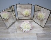 Vintage french old barber mirror folding  // 3 mirror // rustic decor // home decor // country french