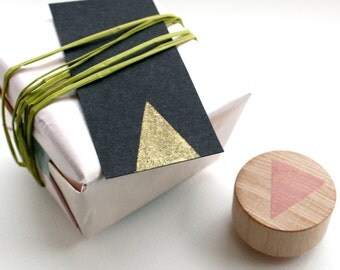 Triangle- Hand Carved Rubber Stamps by Little Stamp Store