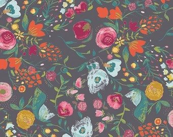 Budquette in Nightfall (Quilting Cotton) - from the Emmy Grace Collection by Bari J for Art Gallery Fabrics