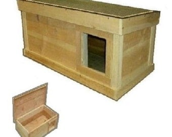 Ark Workshop Medium Outdoor Cat House wood shelter home ferals strays pets - RS SQ