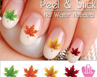 Fall and Autumn Maple Leaf Nail Art Decal Sticker Set LEF901