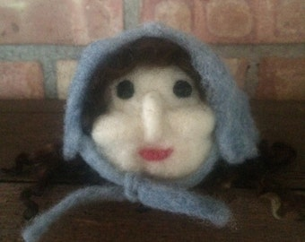 needle felted doll, Wool doll, wool felted doll, doll, felted doll, Bushia, Babushka felted bust