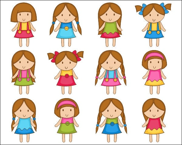 Girl Hairstyles Clipart