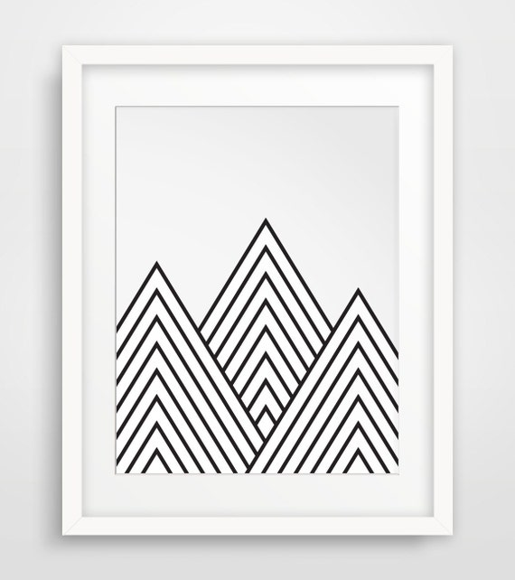 Mountains Geometric Mountain Printable Art by ...