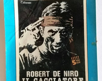 Vintage Robert de Niro Il Cacciatore Deer Hunter film postcard