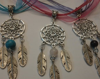 Beautiful Dream Catcher Necklace/ your choice of stone & color