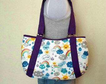 Kawaii Cloud Weather Hobo Purse