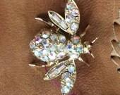 Borealis bee vintage brooch pin