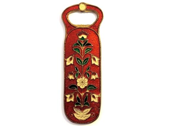 french vintage brass cloisonne bottle opener by souvenirsdevoyages. Black Bedroom Furniture Sets. Home Design Ideas