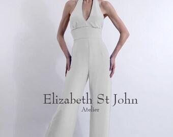 SARAH Silk Crepe Bridal Jumpsuit