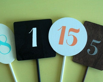 Wedding Table Numbers - Made to Order 14 and 18 inches high now available