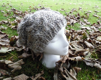 Hand knitted chunky  Slouchy Hat, Womens, Teens, Accessories