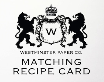 Matching Recipe Card For Any Design