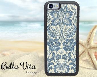 Boho iPhone 6 Case, Personalized iPhone 6S Case, Monogram iPhone Case, Boho Indigo Bohemian 1019 I6S