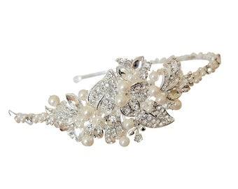 Pearl & Diamante Side Detail Wedding Headband