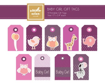 Baby Girl Printable Gift Tags