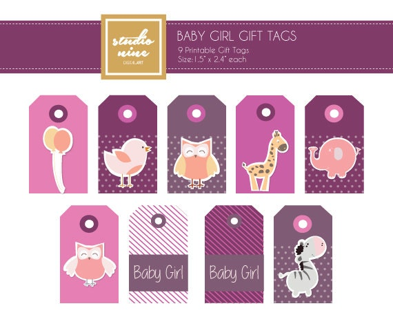 Simplicity image pertaining to printable baby gift tags