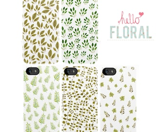Watercolour Leaf Print 4/4S 5 5c 5s 6 6 Plus Samsung Galaxy s2 s3 s4 s5 Ace iPod Touch 4th 5th hard case