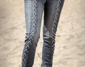 Ash Gray Pathway Jeans by Ayyawear