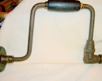 Antique Stanley No 923 Hand Brace Racketing Drill Great Collector's Item