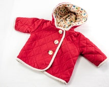 SEWING PATTERN, Baby Jacket Sewing Pattern, Baby Jacket Pattern, Quilted Baby Jacket Pattern, Jacket With Hood Sewing Pattern, PDF Pattern