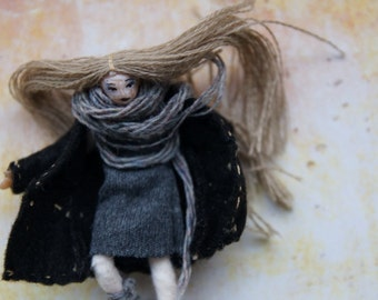 Flying demonic nature primitive creepy doll halfscale