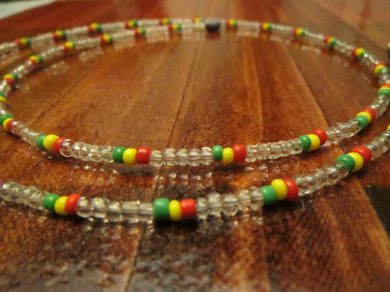 jamaican rasta beaded necklace bob marley jah rastafari