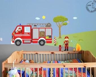 Wandtattoo Feuerwehrmann Individualisierbar Feuerwehr Von MHBilder