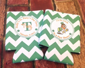 St. Patricks Day Coolie- Party Coolies- Any Design  - Any Quantity