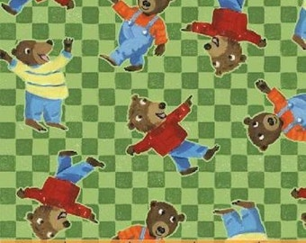 Windham Fabrics The Three Bears 34267-4 Green Bear Check Yardage