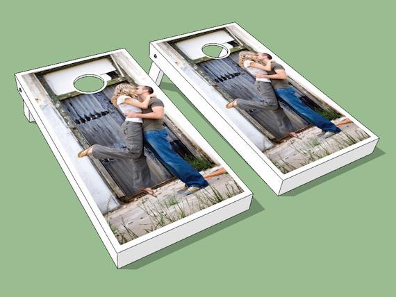 Full Color Engagement Photo Wedding Cornhole Boards - Customized Wedding Cornhole Boards for Your Special Day! Wedding Cornhole Bag toss